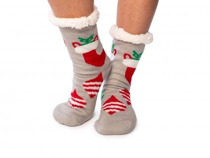 Vánoční ponožky s beránkem Ozdoby