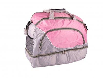Sportovní taška se samostatnou přihrádkou na obuv a vnější síťkou na pití