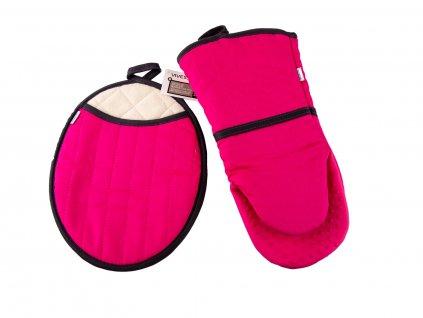 Set chňapky a rukavice se silikonem vivess