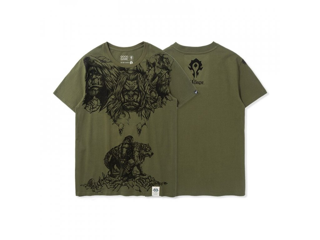 1 TEE7 Men s 3d Printed with short sleeves t shirt Game WOW Garen VS Darius Male
