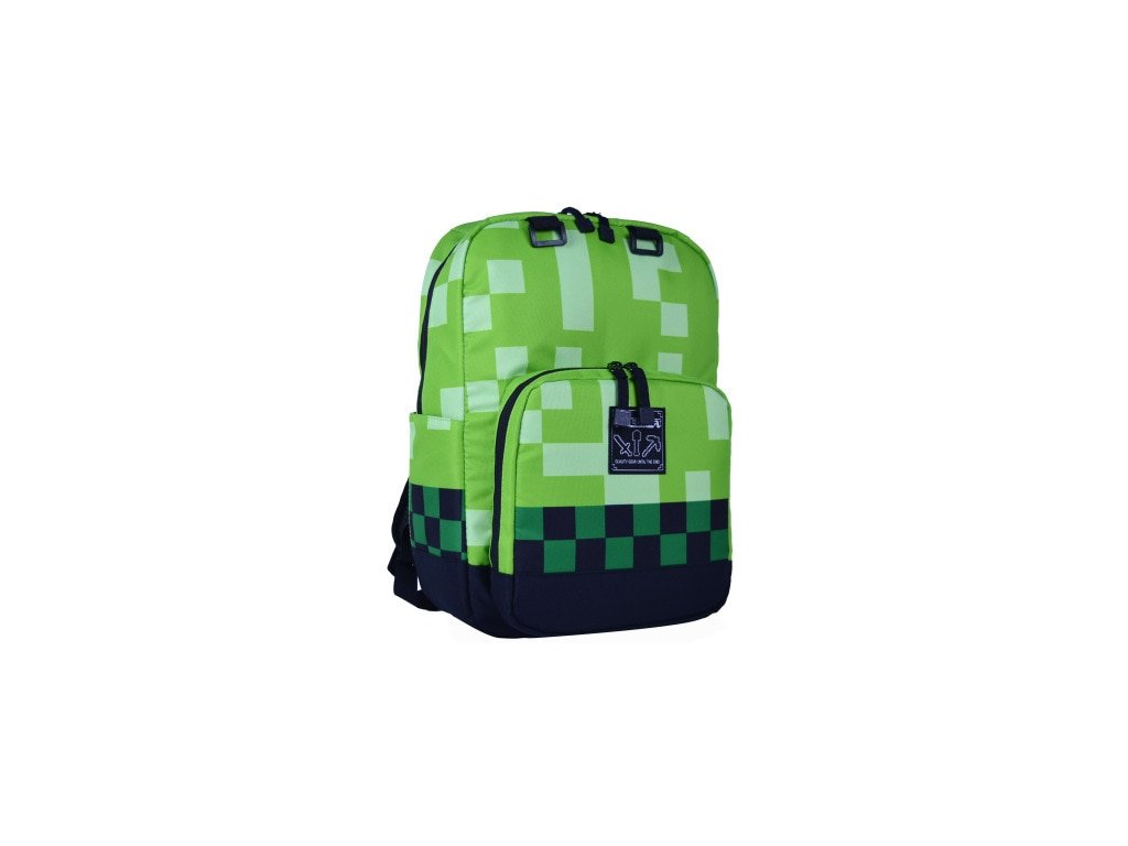 1 Kids Creeper Green Minecrafting Backpacks Factory Directly Children Schoolbag Boy Girls Zip Green Creeper Backpacks Travel