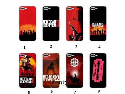 cool game Red Dead Redemption 2 Slim silicone TPU Soft phone case For iPhone X 8 1