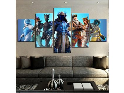 3 Home Decor Canvas Painting 5 Pieces Fortnight Battle Royale Game Posters HD Prints Wall Art Kids