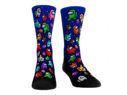 Blue mong us long socks stockings women cosp variants 1