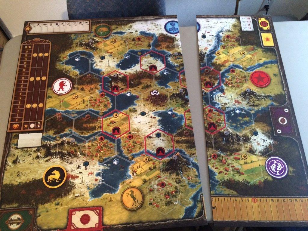 Scythe - rozšíření herního plánu
