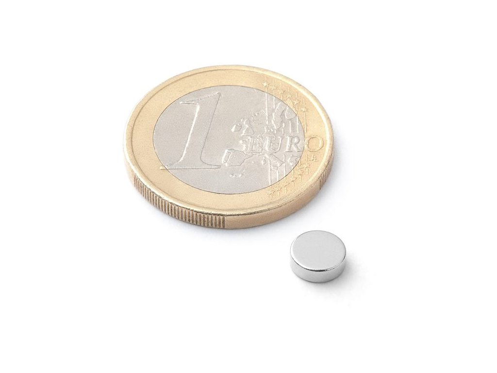 Neodymový kotoučový magnet 6x2mm (1ks)