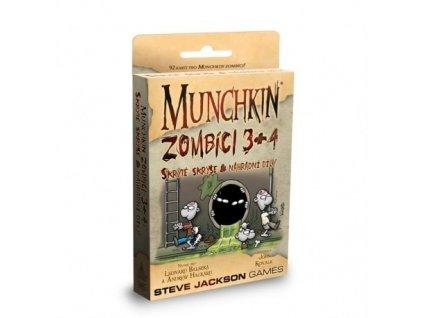 Munchkin: Zombíci 3+4 (Skryté skrýše & Náhradní díly)