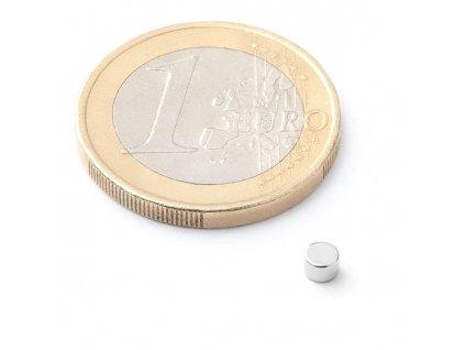 Neodymový kotoučový magnet 3x2mm (1 ks)