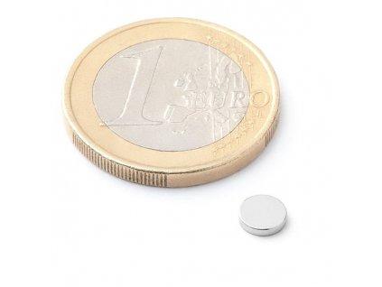 Neodymový kotoučový magnet 5x1mm (1ks)