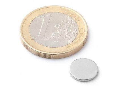 Neodymový kotoučový magnet 10x1mm (1ks)