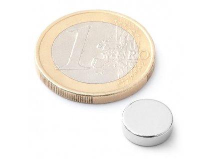 Neodymový kotoučový magnet 10x3mm (1ks)