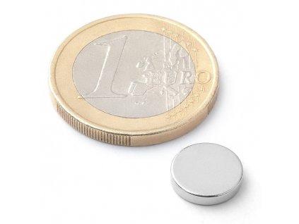 Neodymový kotoučový magnet 10x2mm (1ks)