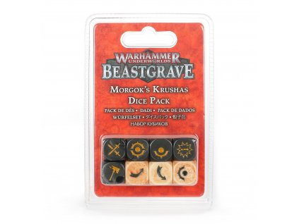 https trade.games workshop.com assets 2020 08 TR 110 97 99220709009 Warhammer Underworlds Morgok s Krushas Dice Pack