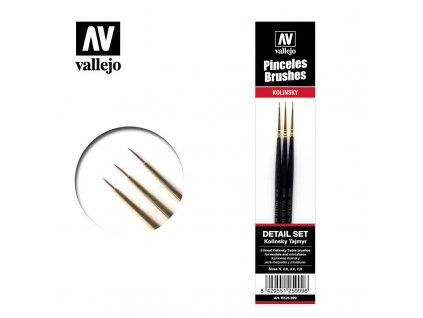 pincel kolinsty tajmir vallejo detail set rk25999