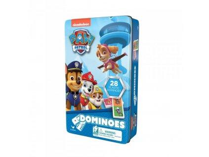 Tlapková patrola Domino v plechové krabičce