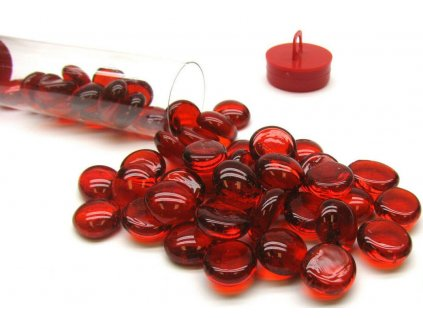 chessex glass gaming stones tube 40 crystal orange