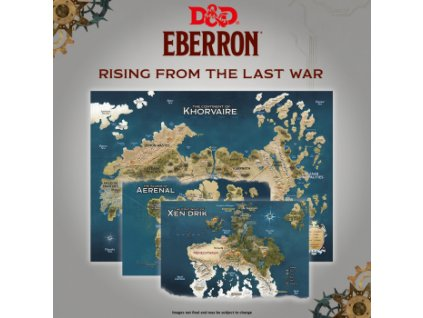 """Dungeons & Dragons: Rising From The Last War - """"Eberron"""" - Map Set x3"""