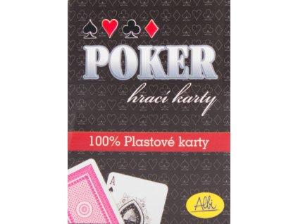 Poker - plastové karty červené