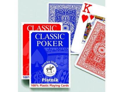 100 plastic poker jumbo index