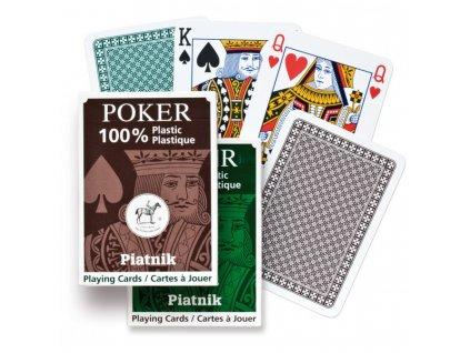 100 plastic poker single
