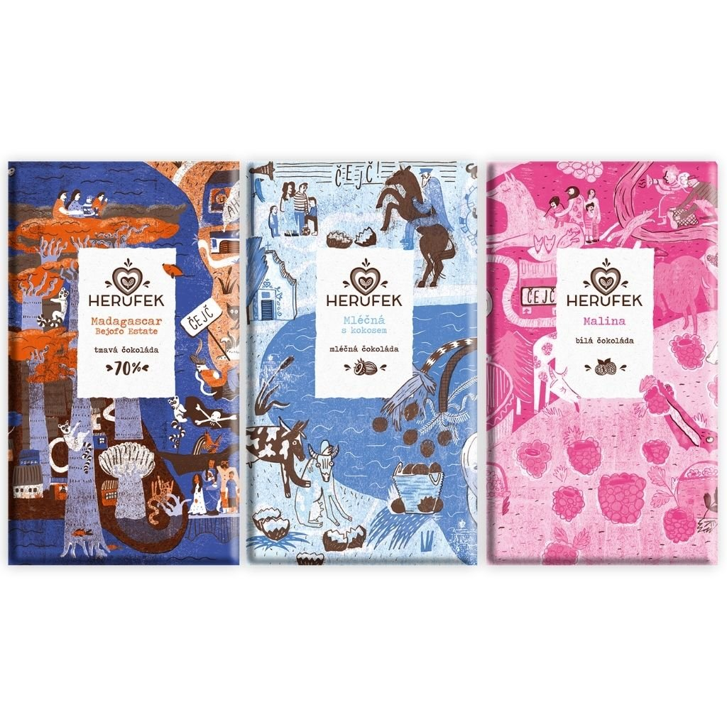 OCHUTNEJ HERUFEK Chocolate | Balíček 3ks čokolád