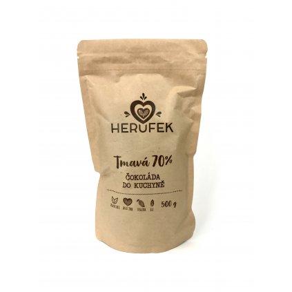 Čokoláda do kuchyně DOMINICAN REP. 70% single origin tmavá čokoláda BIO 500g
