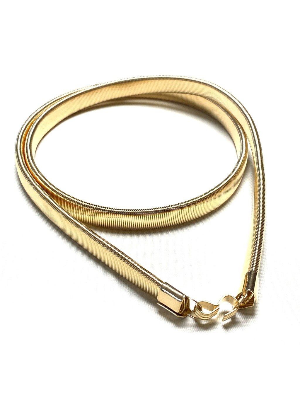Pásek zlatý kovový had