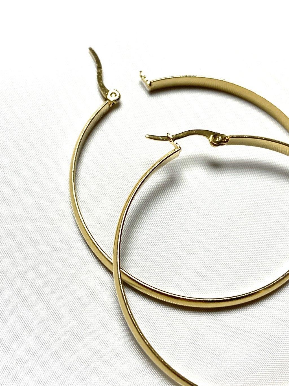 Náušnice zlaté kruhy 5 cm