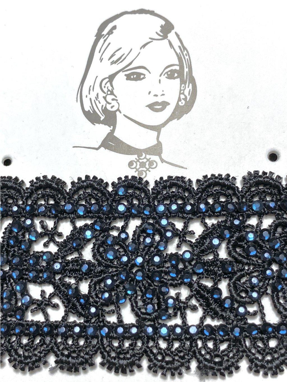 Náhrdelník černá krajka