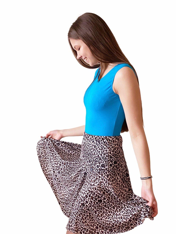 Dámská taneční sukně na latinu Leopard