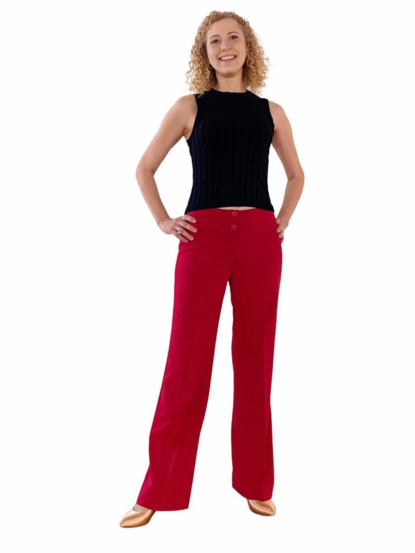 Dámské taneční kalhoty  Double Stretch, barva malinová