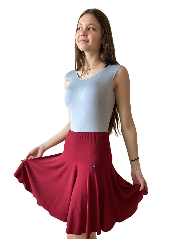 Dámská taneční sukně na latinu vínová