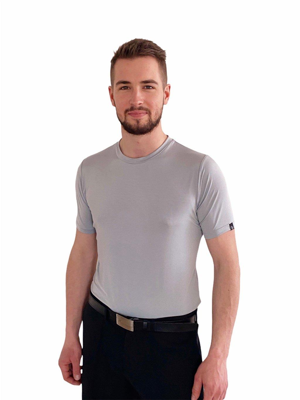Pánské taneční triko Super Soft šedé