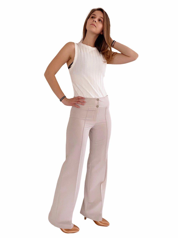 Dámské taneční kalhoty Double Stretch, slonová kost