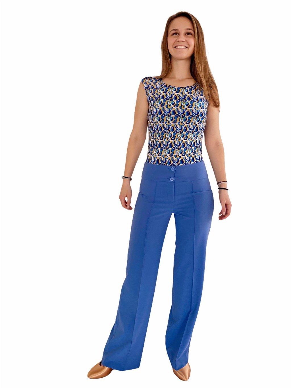 Dámské taneční kalhoty Double Stretch modré