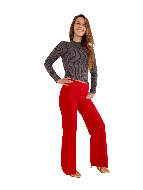 Dámské taneční kalhoty Double Stretch červené