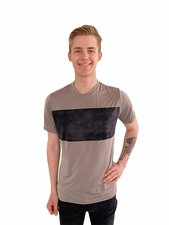 Pánské taneční triko Super Soft, béžové