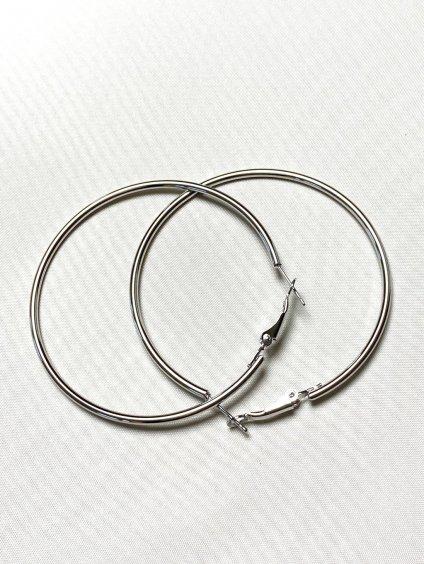 Náušnice stříbrné kruhy 5 cm