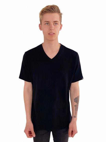 Pánské taneční triko černé Simple