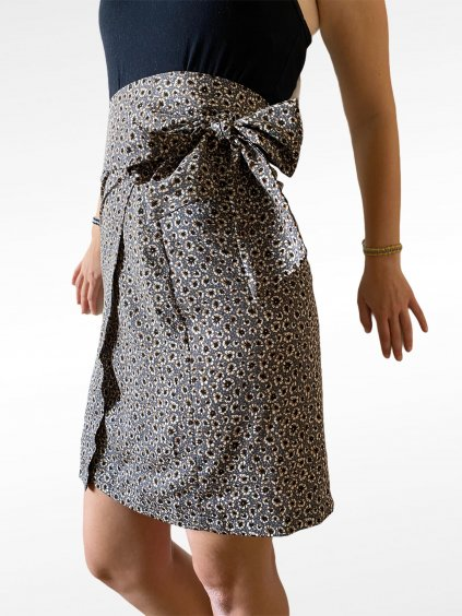 Zavinovací sukně s květinovým vzorem