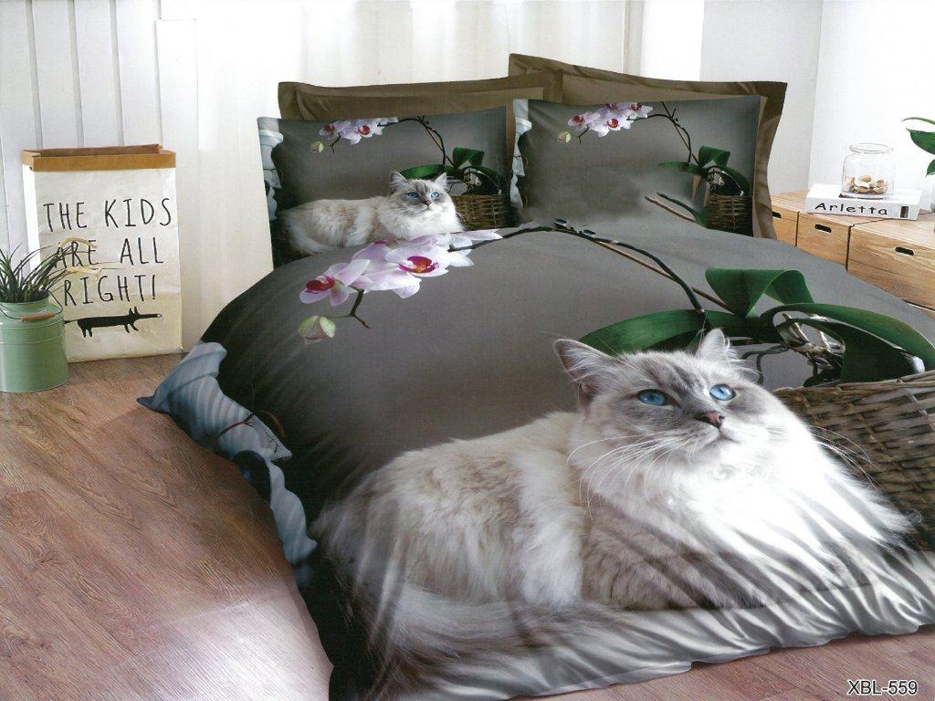 3D Povlečení kočka