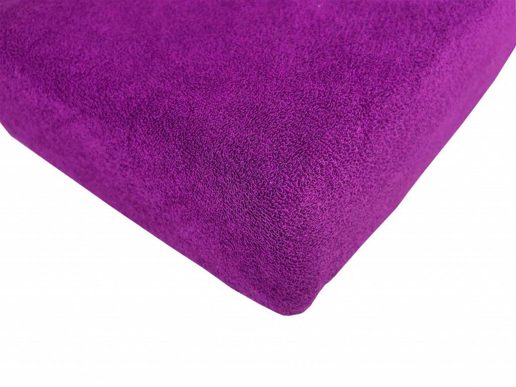 Prostěradlo froté fialová