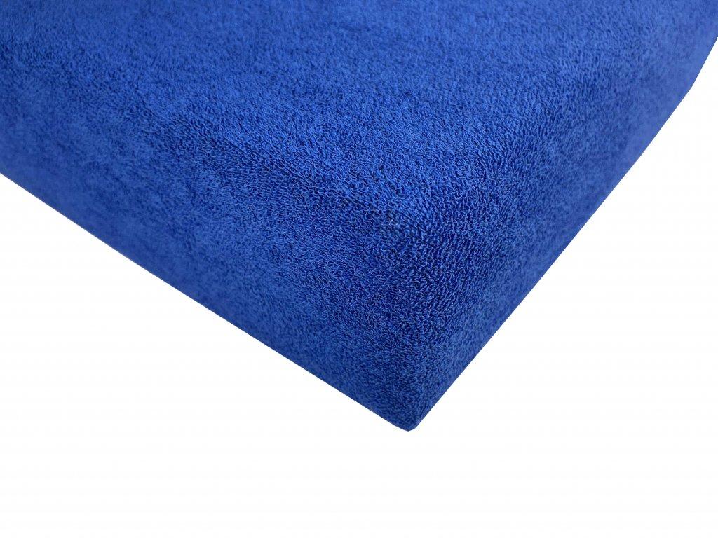 Prostěradlo froté modrá