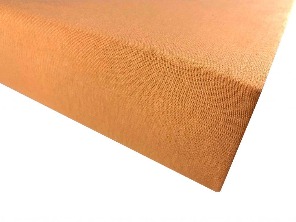Prostěradlo bavlna oranžová