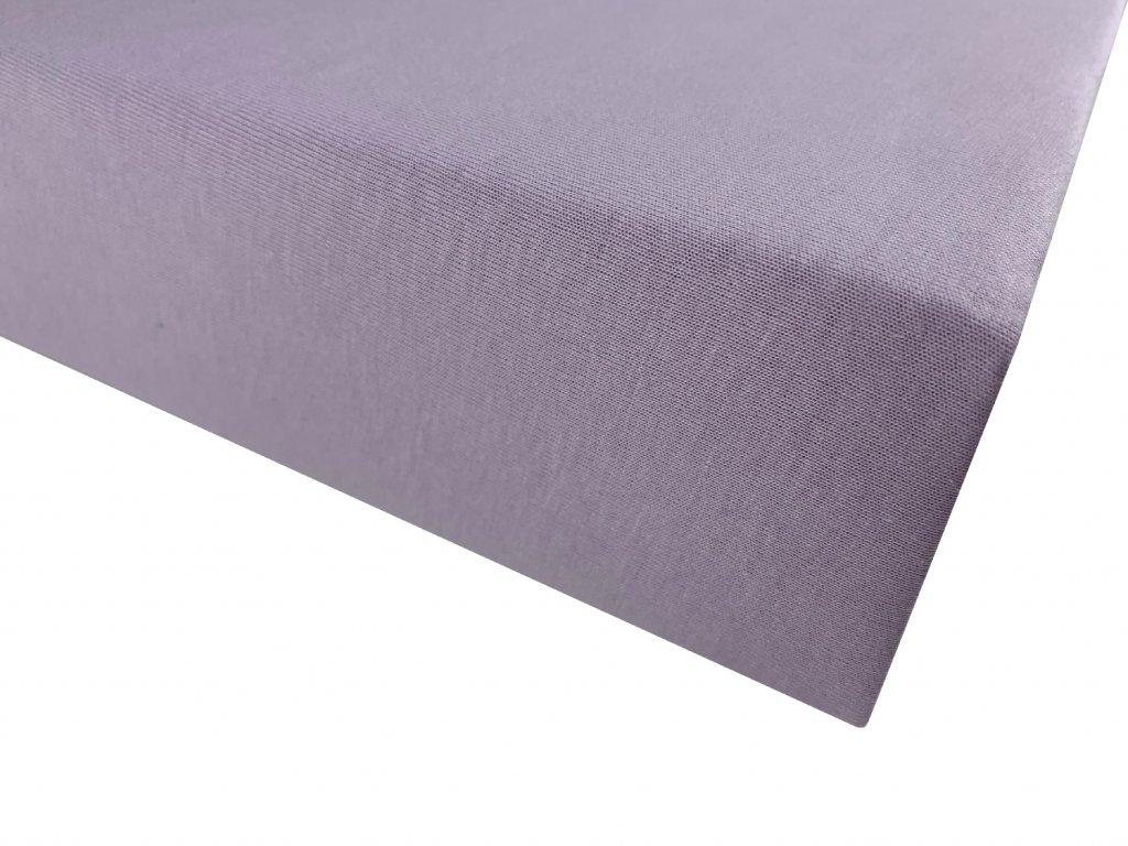 Prostěradlo bavlna světle fialová
