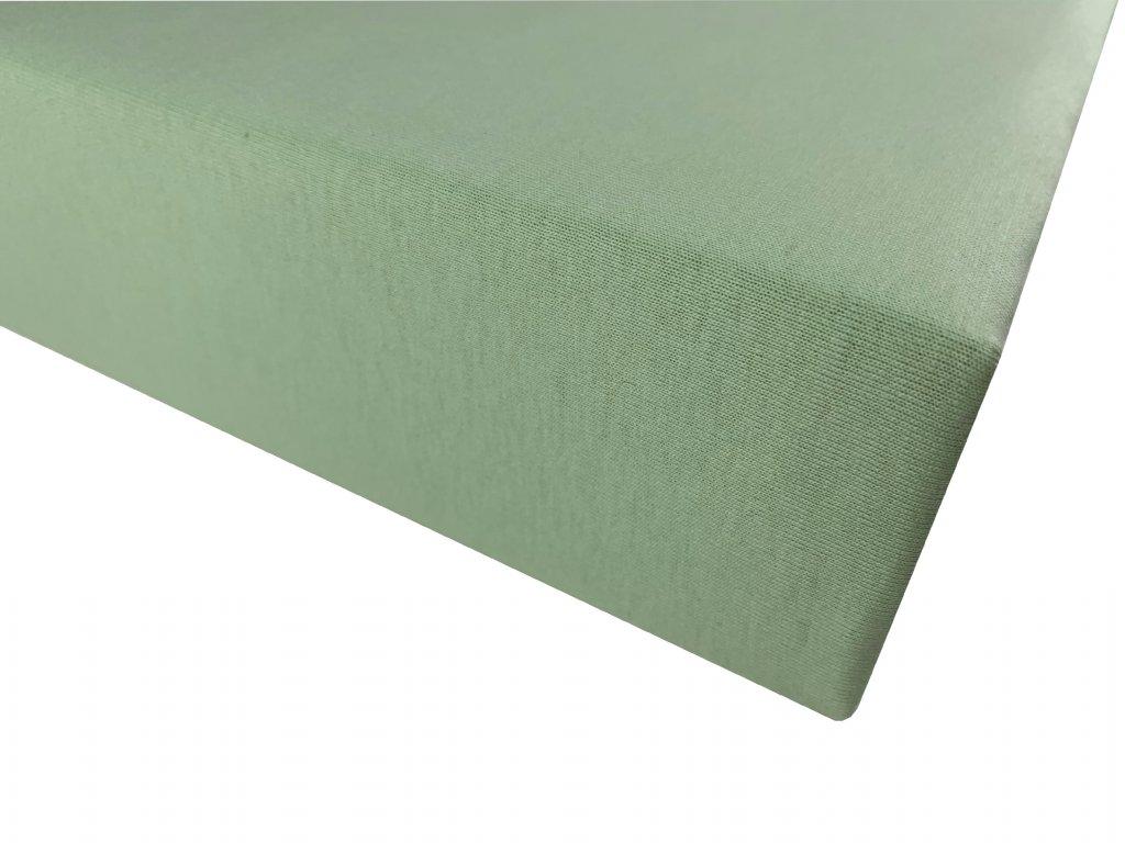 Prostěradlo bavlna světle zelená