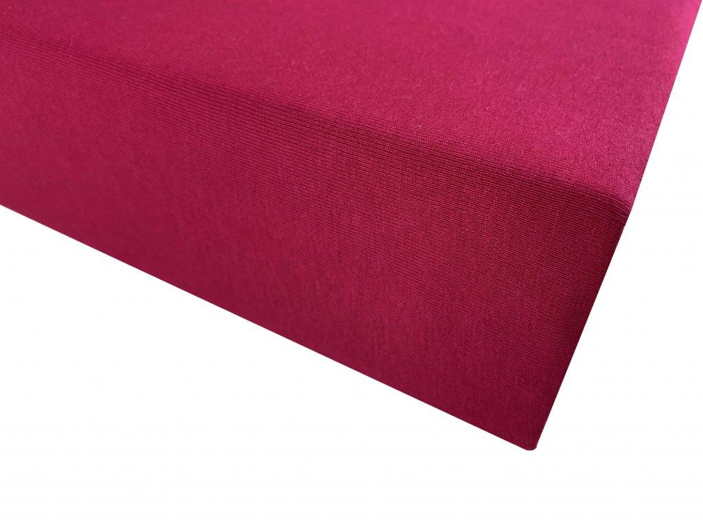Prostěradlo bavlna tmavě růžová