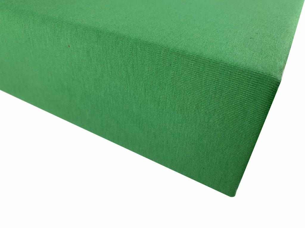 Prostěradlo bavlna zelená
