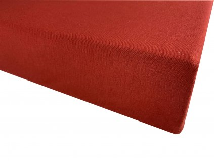 Prostěradlo bavlna červená