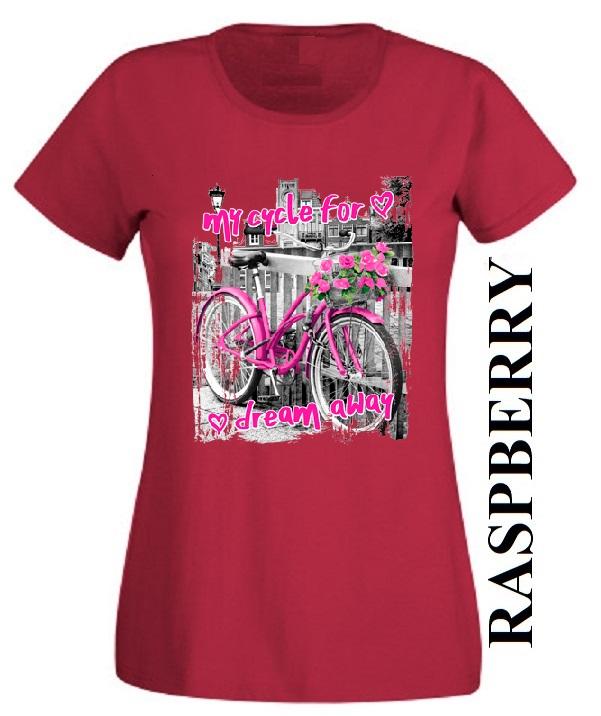 Nové dámské tričko s bicyklem ve 22 barvách